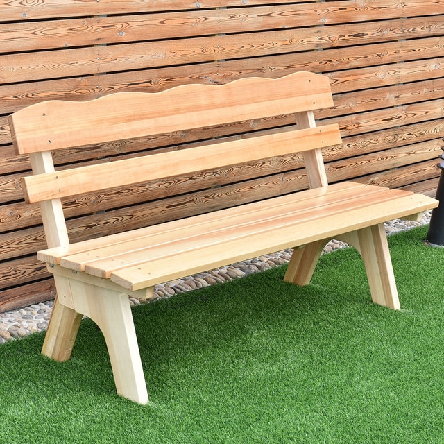 US $95.99 |Giantex 5 Ft 3 Seats Outdoor Wooden Garden Bench Chair Modern  Wood Frame Yard Deck Furniture OP3204-in Patio Benches from Furniture on