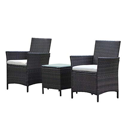 Amazon.com: VIVA HOME Patio Rattan Outdoor Garden Furniture Set of