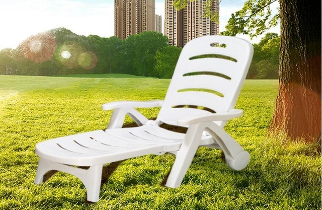 Garden chairs and sun loungers