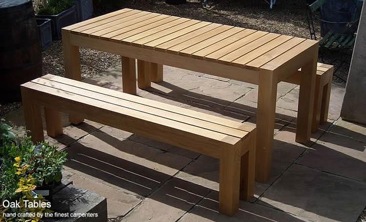 Oak Garden Tables