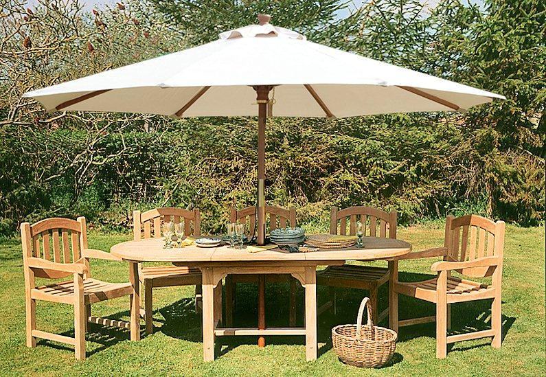Cotswold Teak Garden Tables Rectangular Oval Round Extending UK
