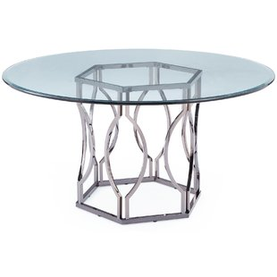 Modern & Contemporary Modern Glass Dining Table | AllModern