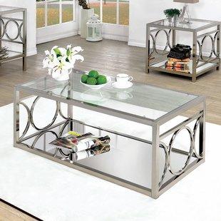 Glass & Metal Coffee Tables You'll Love | Wayfair