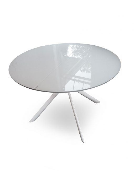 Tide Round to Elliptical Glass Kitchen Table | Expand Furniture