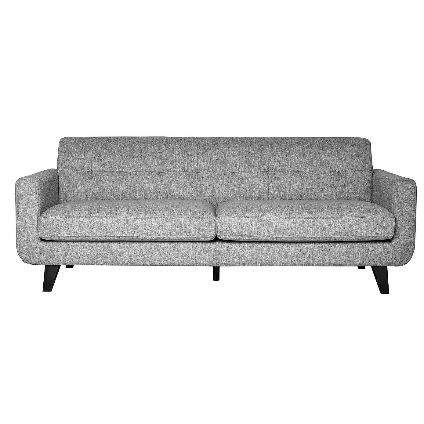 Bexter Grey 3 Seater Sofa | Dunelm