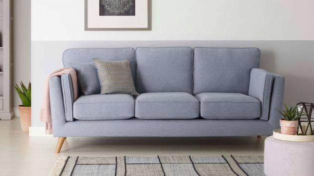 Gray 3 seaters sofas