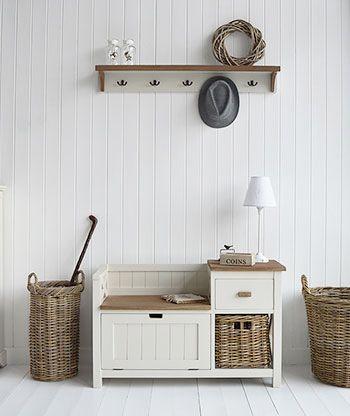 Brunswick hall furniture. Storage seat, lamp table, shoe bench and