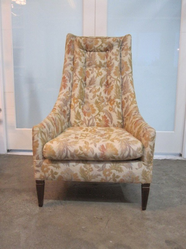 Vintage High Back Chair - Ideas on Foter