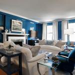 High gloss living room walls