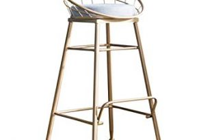 Amazon.com: Modern Barstools Chair with Backrest Footrest High Stool