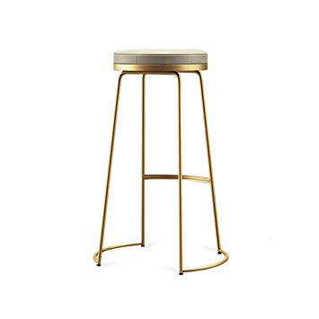 Amazon.com: Decorative stool Iron Art Bar Stools, Creative Golden PU