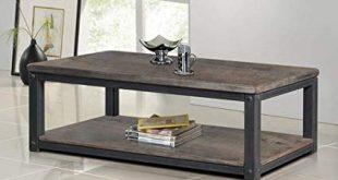 Amazon.com: Heritage Rustic Wood and Metal Coffee or Tea Table