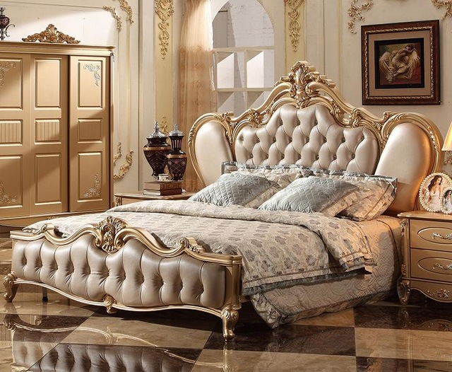 French Classic Italian Provincial Bedroom Furniture Set-in Bedroom