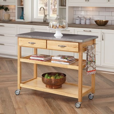 Amazon.com - Large Kitchen Island Cart Wheels Rolling Roller