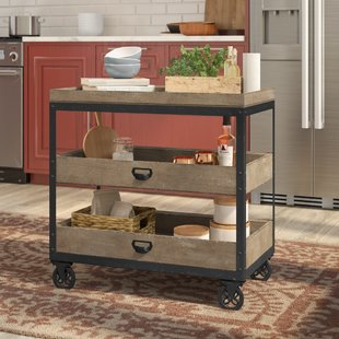 Metal Kitchen Cart With Wheels | Wayfair