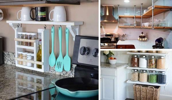 Interesting and Practical Shelving Ideas for Your Kitchen - Amazing