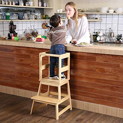 Amazon.com: SDADI Kids Kitchen Step Stool with Safety Rail CPSC