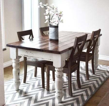 DIY Husky Farmhouse Table | Ana White | DIY in 2019 | Farmhouse