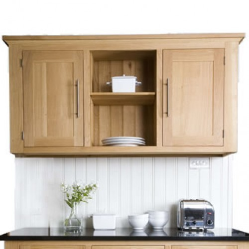 Creamery Kitchens Living Kitchen freestanding oak wall unit