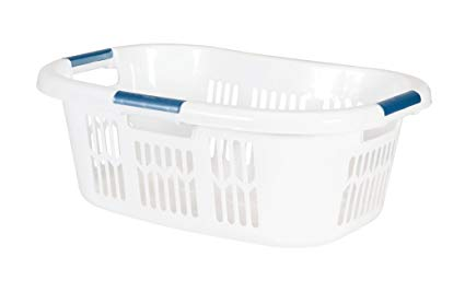 Amazon.com: Rubbermaid Hip Hugger Laundry Basket, Standard, White