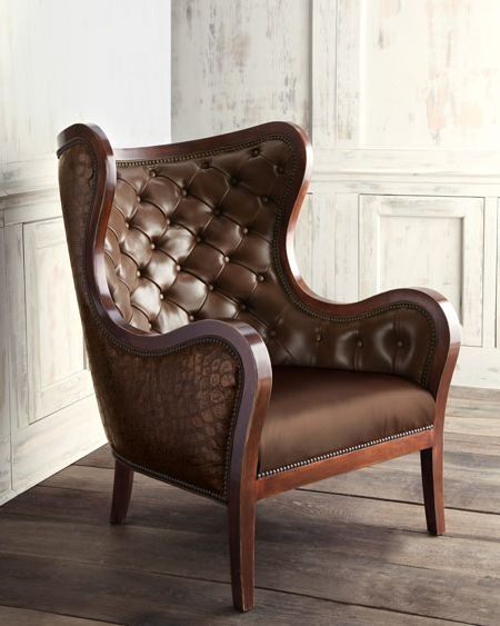 The Raymond leather chair by Massoud Furniture