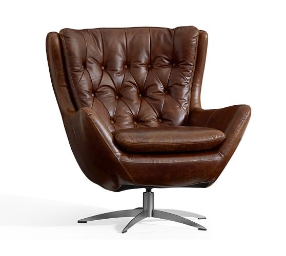 Leather chairs with comfortable covers!