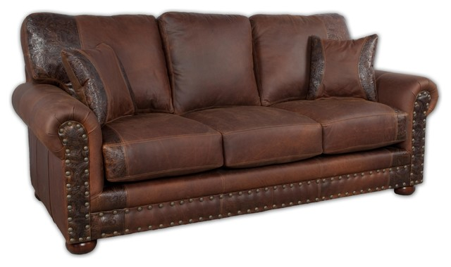 Western Rustic Leather Sofa - Southwestern - Sofas - by Bitterroot