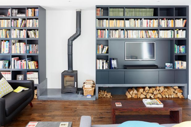 12 Clever Ideas for Living Room Shelving
