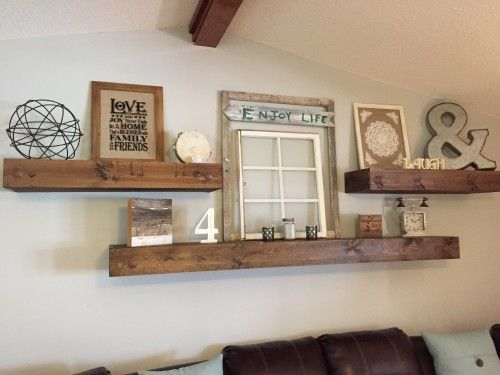 Floating Shelves | Shelving Ideas | Living room decor, Modern