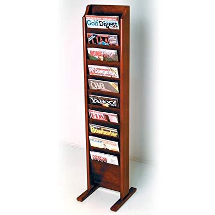 Amazon.com: Wooden Mallet 10-Pocket Cascade Free-Standing Magazine