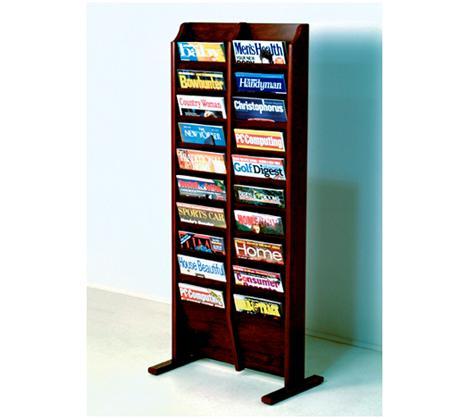 Free Standing 20 Pocket Magazine Rack | Ultimate Office