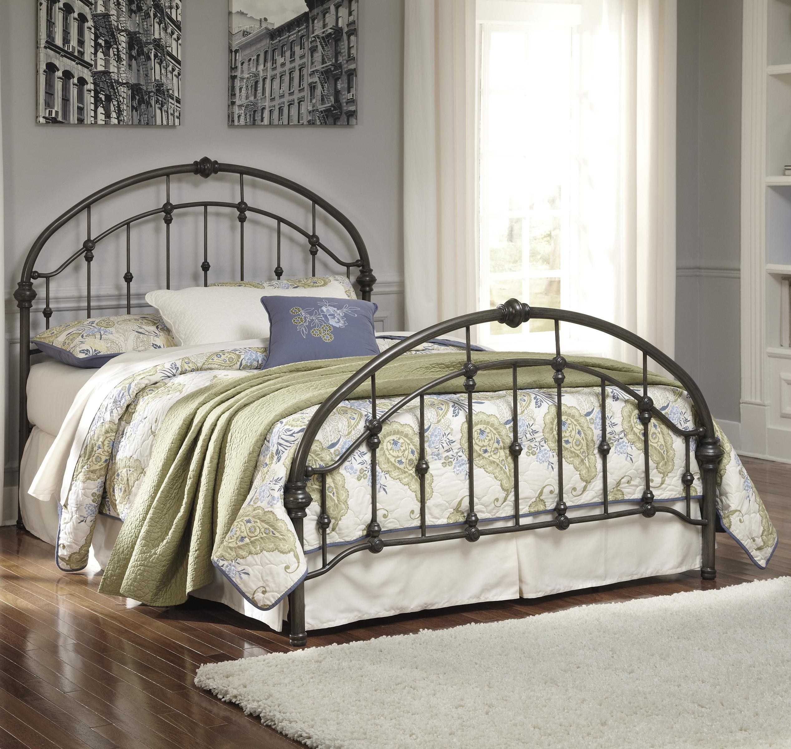 Signature Design by Ashley Nashburg Queen Arched Metal Bed in Bronze