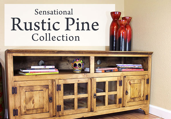 Authentic Rustic Pine Furniture Pieces and Mexican Furniture