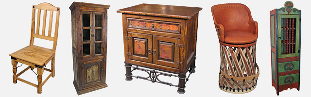 Mexican Rustic Furniture - Southwest, Spanish, Ranch and Western Styles