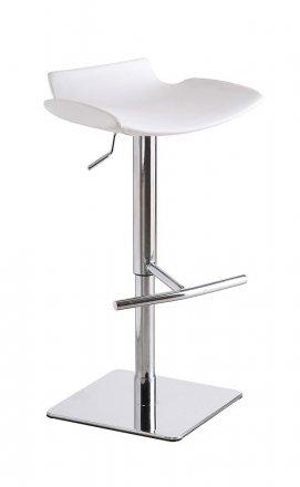 C159-3 Swivel White Barstool