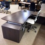 Modern office desks and chairs