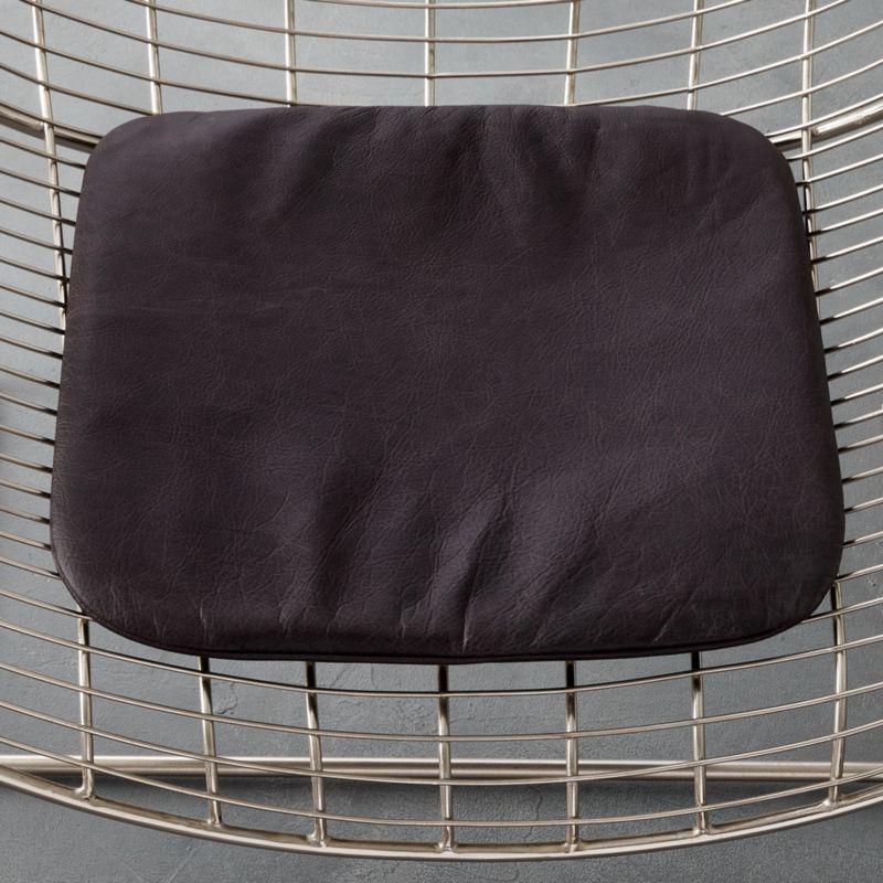 black leather chair cushion