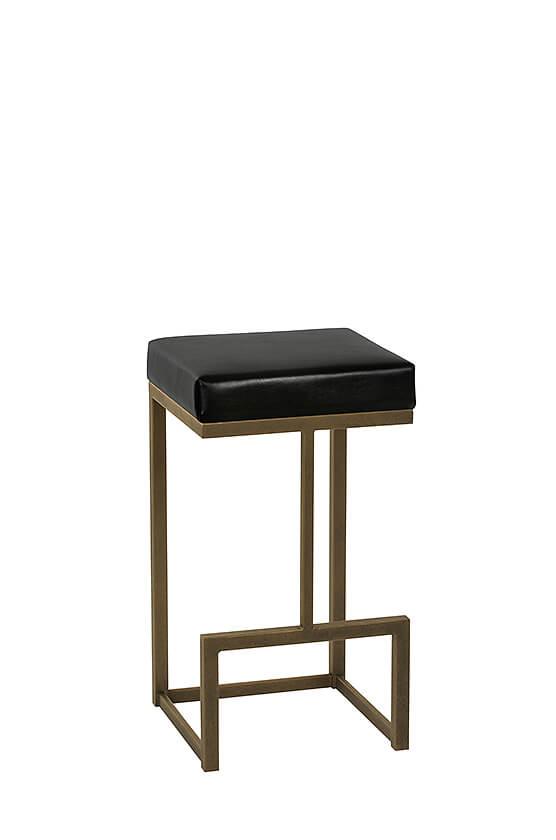 Wesley Allen's Hugo Modern Square Sled Backless Stool u2022 Barstool