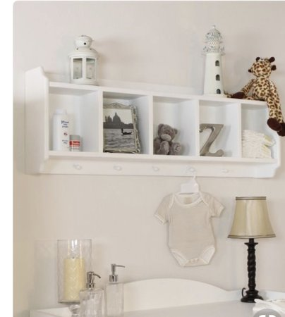 Baby nursery shelves. - BabyCentre