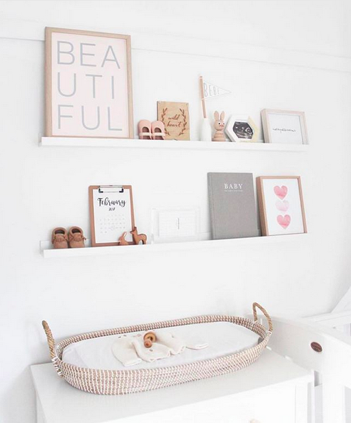 10 of the most stylish wall shelf options for a nursery or child's