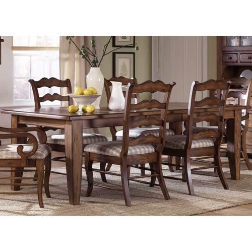 Liberty Furniture Treasures Rustic Oak Rectangular Leg Table 17