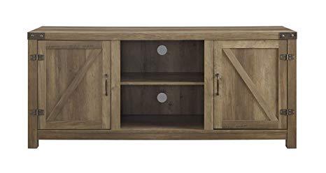 Amazon.com: WE Furniture W58BDSDRO Barn Door TV Stand, 58