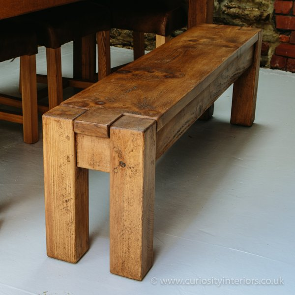 Lumber Plank Bench | Rustic Dining Benches from Curiosity Interiors