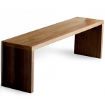 Plank bench for a homely entrance