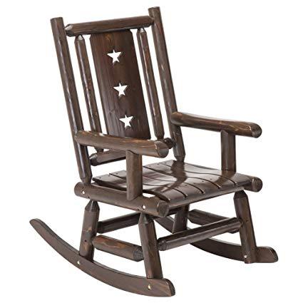 Amazon.com : Wood Outdoor Rocking Chair Rustic Porch Rocker Heavy