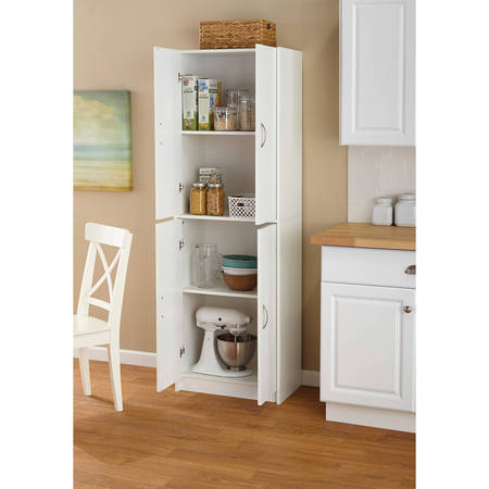 Mainstays 4-Shelf Multipurpose Storage Cabinet, White - Walmart.com