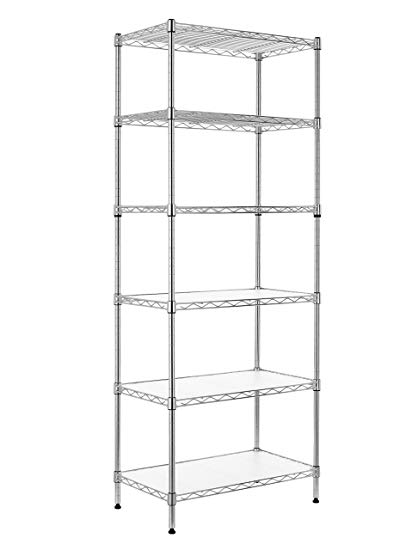 Amazon.com: Finnhomy 6-Tier Wire Shelving Unit Adjustable Steel Wire