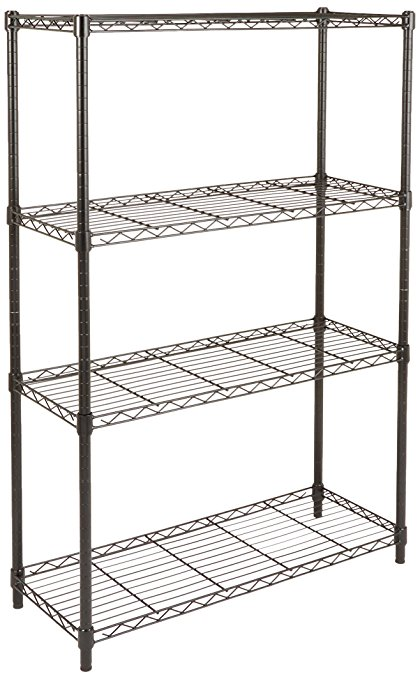 Amazon.com: AmazonBasics 4-Shelf Shelving Unit - Black: Home & Kitchen