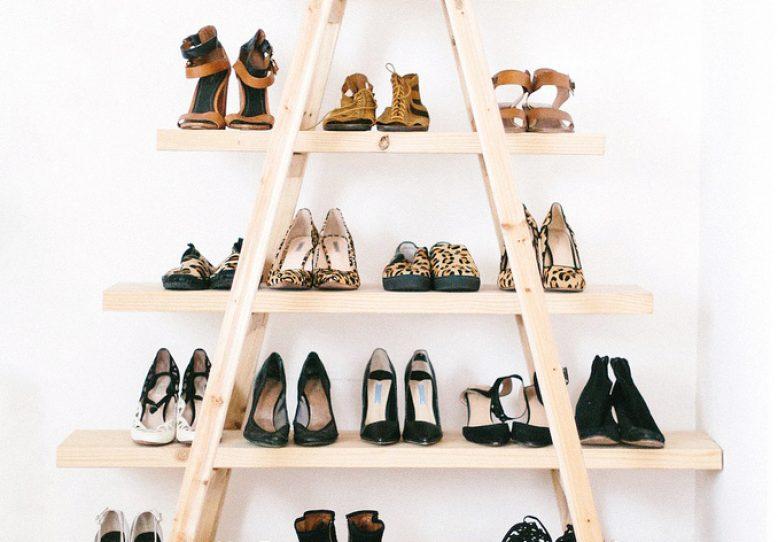 DIY Update: The Ladder Shoe Shelf | A Pair & A Spare