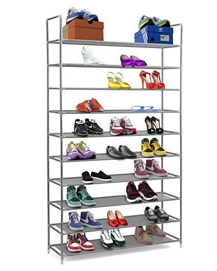 Amazon.com: Halter 10 Tier Stackable Shoe Rack Storage Shelves